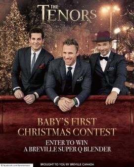 The Tenors · Baby's First Christmas Contest Sweepstakes