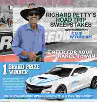 Richard Petty's Road Trip Sweepstakes Sweepstakes