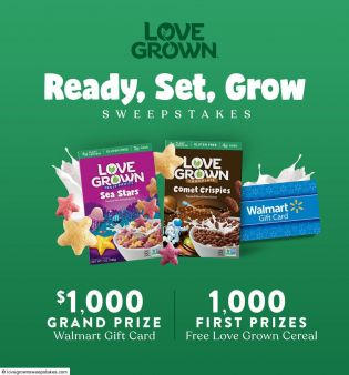 $5,000 Love Grown Walmart Sweepstakes Sweepstakes